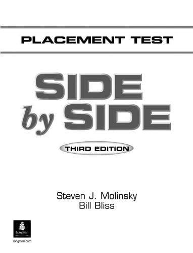 9780130270023: Side by Side: Placement Test