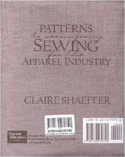 9780130270740: Patterns to Accompany Sewing for the Apparel Industry