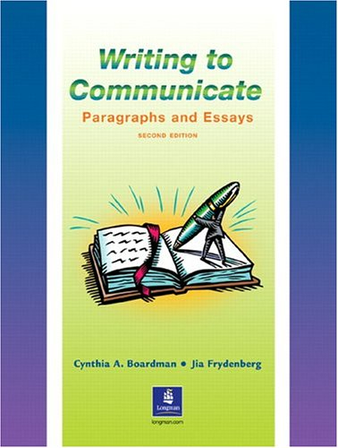 9780130272546: Writing to Communicate: Paragraphs and Essays  (Second Edition)