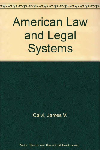 9780130275660: American Law and Legal Systems