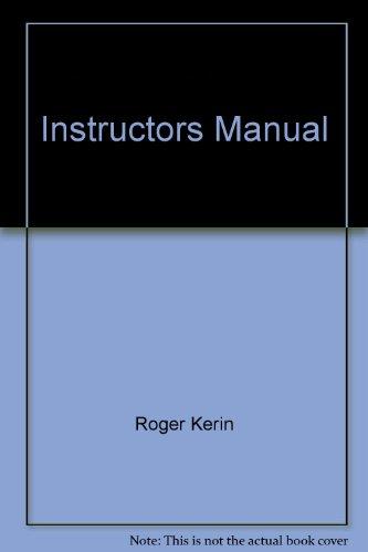 9780130277763: Instructors Manual