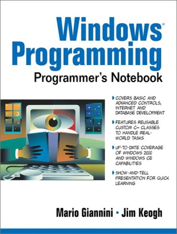 9780130278456: Windows Programmer's Notebook
