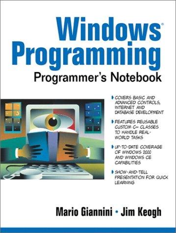 9780130278456: Windows Programming Programmer's Notebook