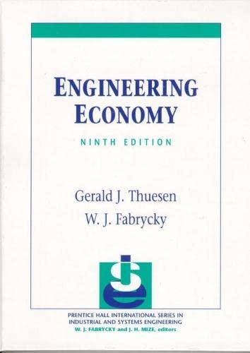 9780130281289: Engineering Economy (9th Edition)