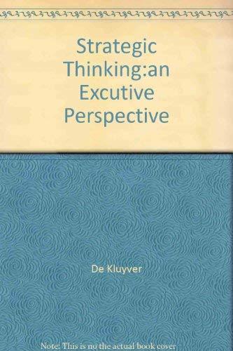 9780130281784: Strategic Thinking: Executive Perspective
