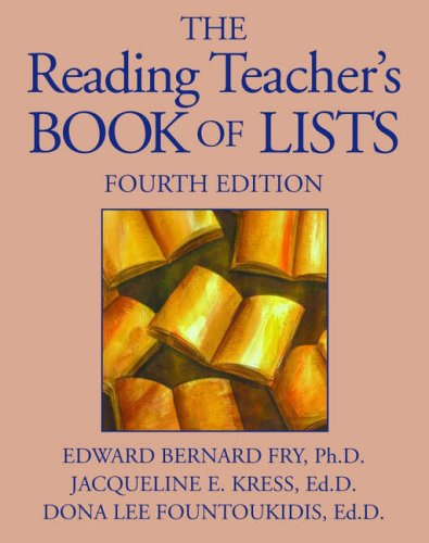 9780130281852: The Reading Teacher's Book of Lists Fourth Edition (J-B Ed: Book of Lists)