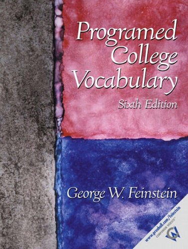 9780130282682: Programed College Vocabulary