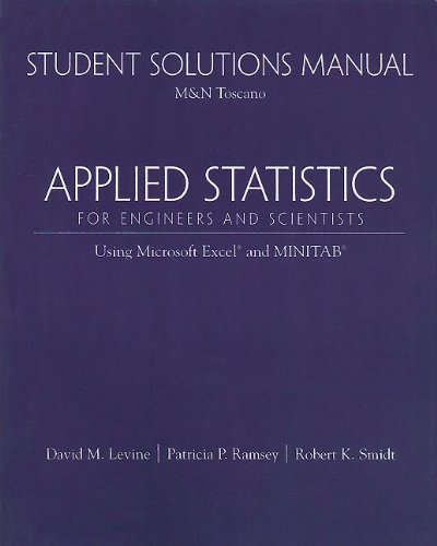 9780130286819: Student Solutions Manual for Applied Statistics for Engineers and Scientists: Using Microsoft Excel & Minitab