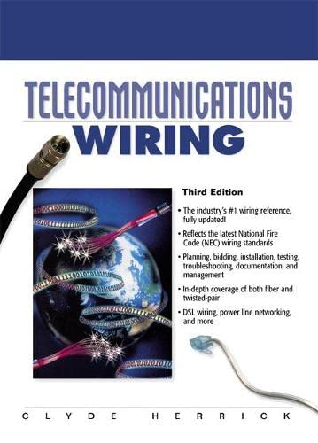 9780130286963: Telecommunications Wiring (3rd Edition)