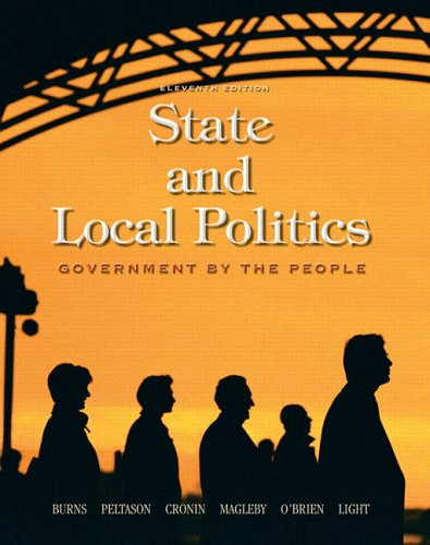 9780130287908: Government by the People: State and Local Politics, 11th Edition