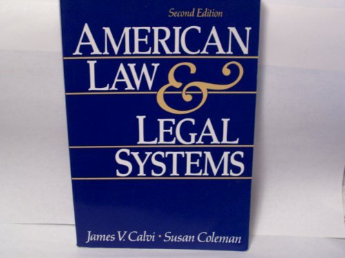 9780130288530: American Law and Legal Systems
