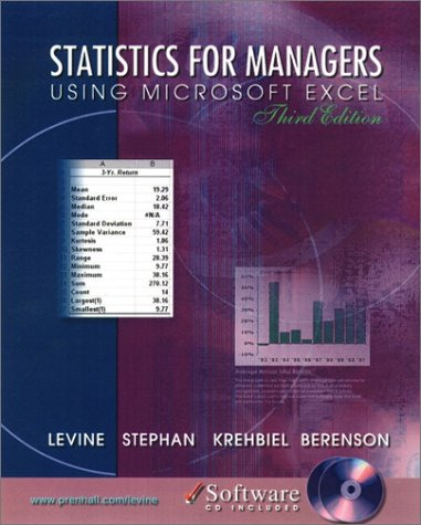 9780130290908: Statistics for Managers Using Excel