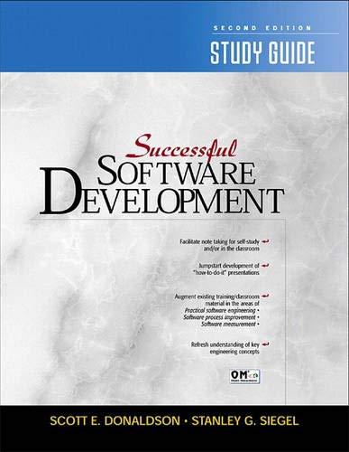 9780130291479: Successful Software Development Study Guide