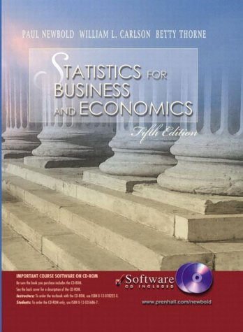 9780130293206: Statistics for Business and Economics