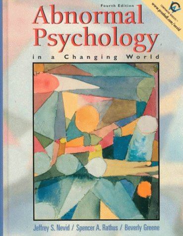 9780130300058: Abnormal Psychology in a Changing World (4th Edition)