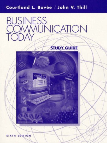 9780130300430: Business Communication Today: Study Guide
