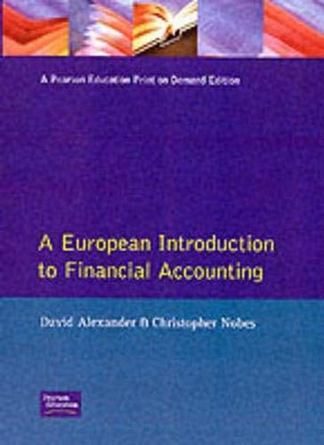 9780130302069: A European Introduction to Financial Accounting