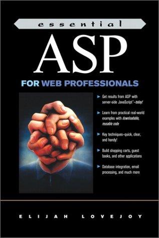 9780130304995: Essential ASP for Web Professionals (Essential Web Professionals)