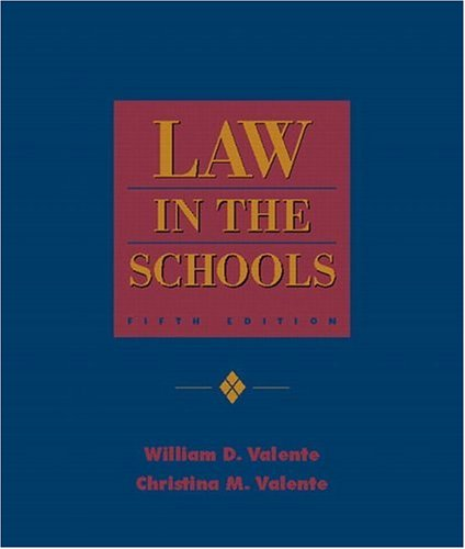 9780130305466: Law in the Schools (5th Edition)