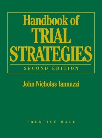 9780130305688: Handbook of Trial Strategies, 2nd Edition