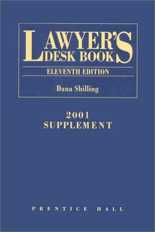 9780130306753: Lawyers Desk Book: 2001 Supplement