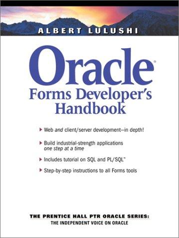 9780130307545: Oracle Forms Developer's Handbook