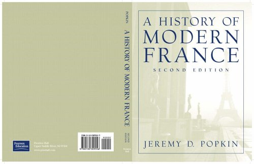 9780130309556: A History of Modern France