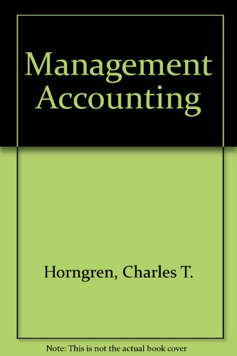9780130313898: Management Accounting