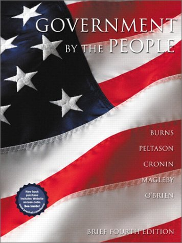 9780130315748: Government by the People, 2001-2002 (Brief 4th Edition)