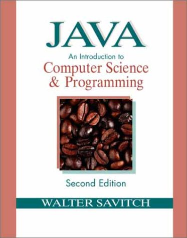 9780130316974: Java: An Introduction to Computer Science & Programming (2nd Edition)