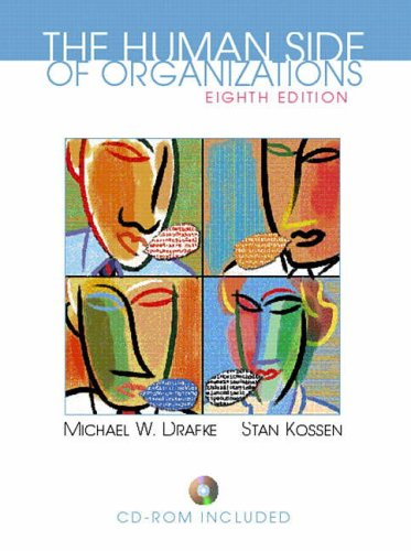 9780130319616: The Human Side of Organizations