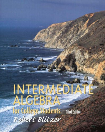 9780130319623: Intermediate Algebra for College Students (Blitzer Algebra)