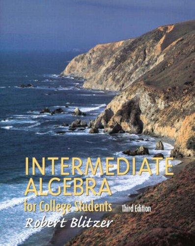 9780130319623: Intermediate Algebra for College Students (3rd Edition)