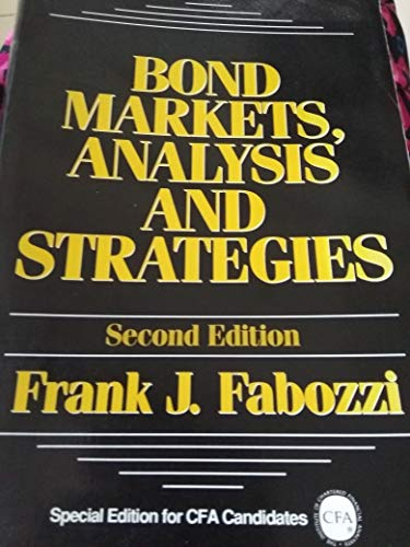 9780130322104: Bond Markets: Analysis and Strategies