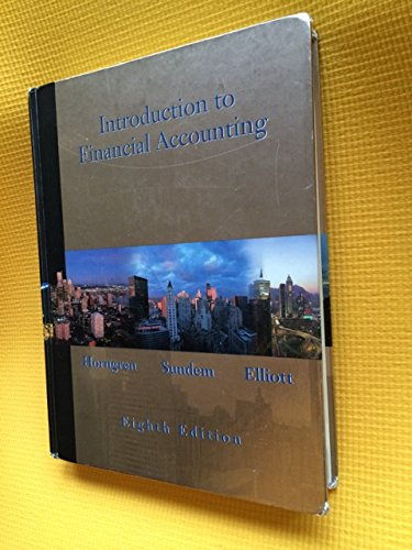 9780130323712: Introduction to Financial Accounting: United States Edition