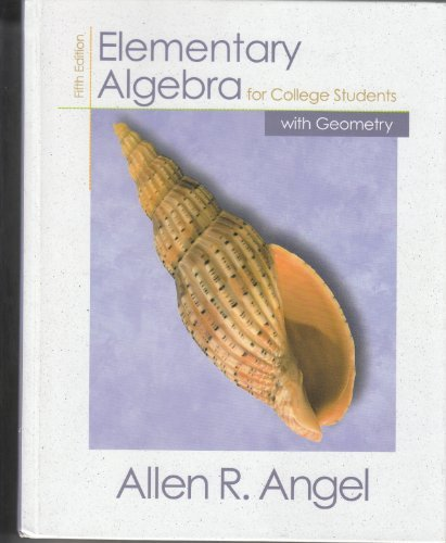 9780130324054: Elementary Algebra for College Students with Geometry