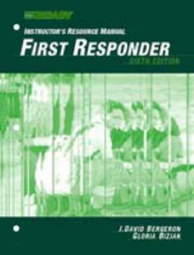 9780130324825: First Responder: Instructors Resource Manual