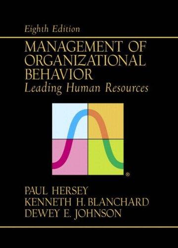 9780130325181: Management of Organizational Behavior: Leading Human Resources