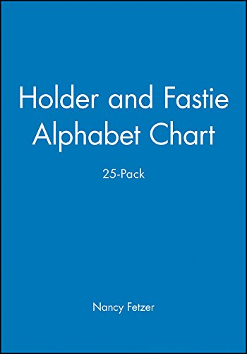 9780130325297: Holder and Fastie Alphabet Chart 25-Pack, Contains 25 8-1/2 x 11 Cards