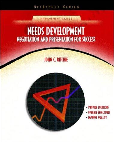 Needs Development: Negotiation and Presentation for Success: John C. Ritchie