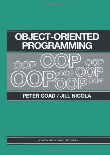 Object-Oriented Programming: Peter Coad, Jill