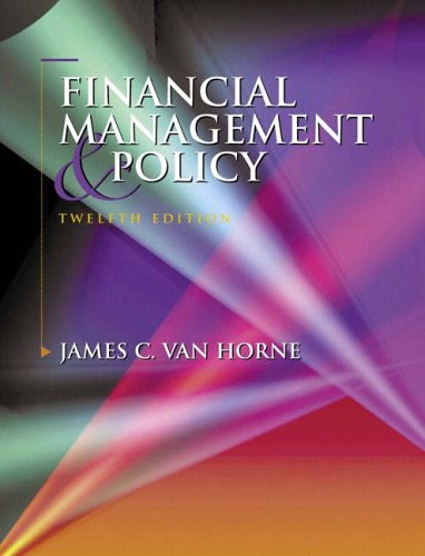 9780130326577: Financial Management and Policy (12th Edition)