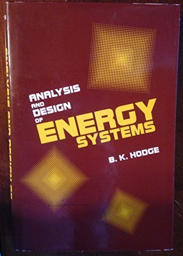 9780130328144: Analysis and Design of Energy Systems (Prentice-Hall series in energy)