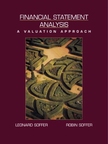 9780130328342: SOFFER: FIN STATEMENT ANALYSIS _c1: United States Edition: A Valuation Approach