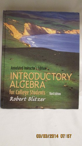 9780130328410: Introductory Algebra for College Students 3rd Third Edition Annotated Instructor's Edition