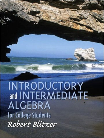 9780130328427: Introductory and Intermediate Algebra for College Students