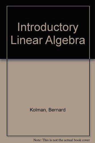 9780130328533: Introductory Linear Algebra