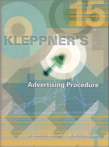9780130328779: Kleppner's Advertising Procedure (15th Edition)