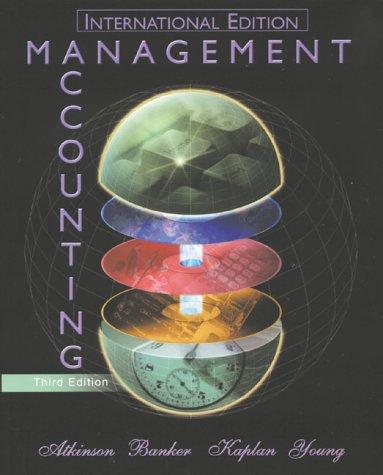 9780130328991: Management Accounting (International Edition)