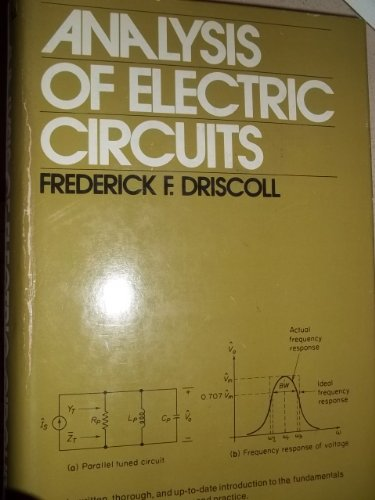 9780130329127: Analysis of Electric Circuits (Prentice-Hall series in electronic technology)